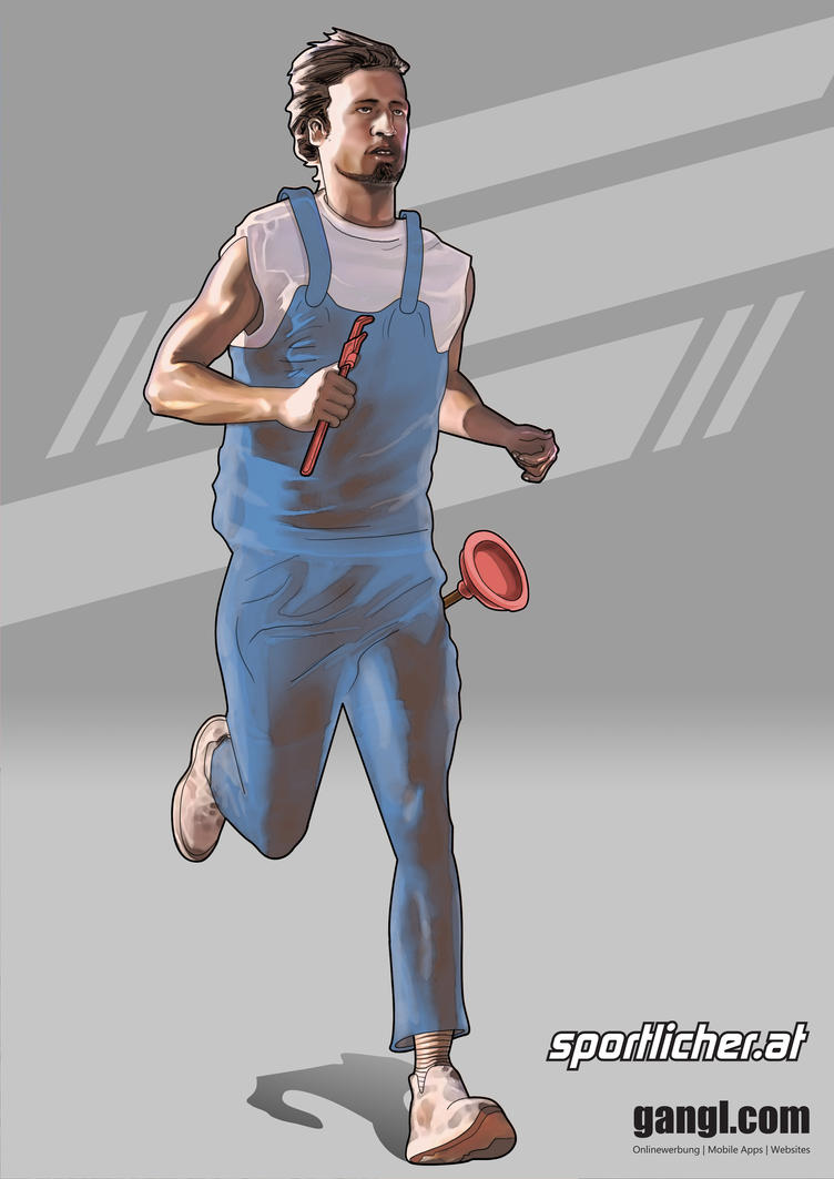 Running Plumber by valadorf