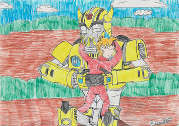 Cyber-Shark Gives Bumblebee A Hug (for Alvaxerox) by RedFire11