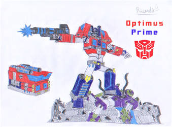 Optimus Prime (Cybertronian Form) by RedFire11