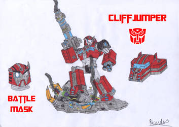 Cliffjumper (Cybertronian Form) by RedFire11