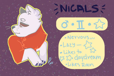 Nicals Char Sheet by fruppycup