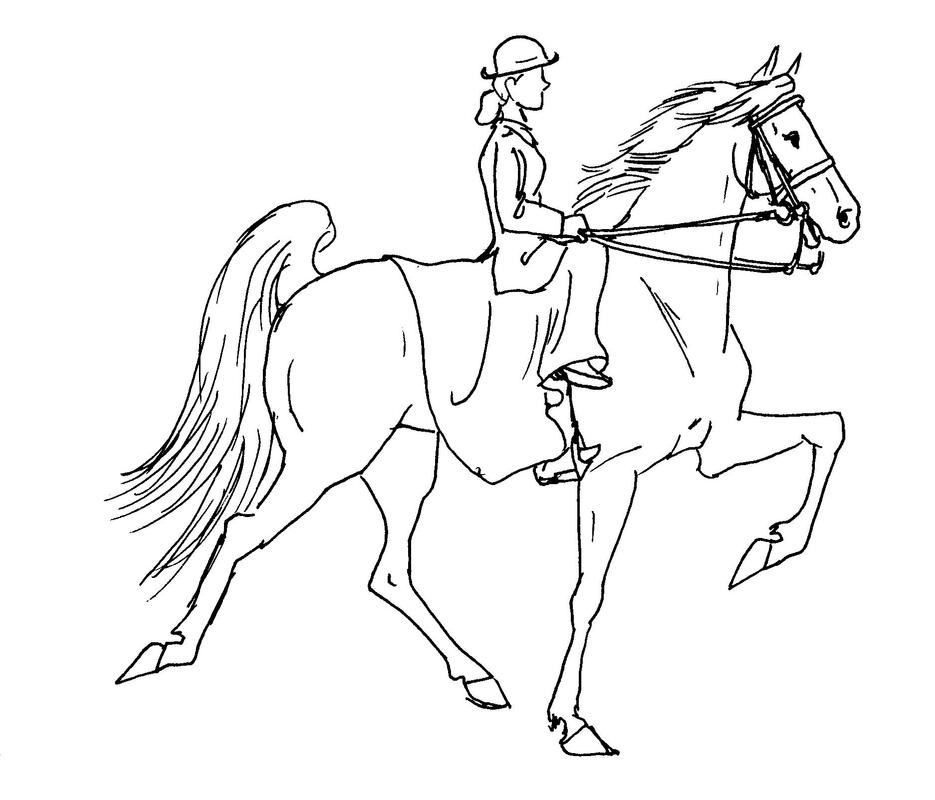 saddled horse coloring pages - photo#45
