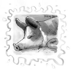 Pig - Inktober2018 Day 23: Muddy