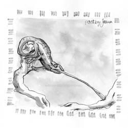 Chameleon - Inktober2018 Day 26: Stretch