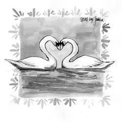 Swan - Inktober2018 Day 29: Double