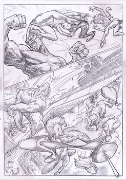 X-MEN STORM teams-up SPIDER-WOMAN vs. RHINO page 2