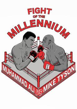 FIGHT OF THE MILLENNNIUM MuhammadAli vs MikeTyson