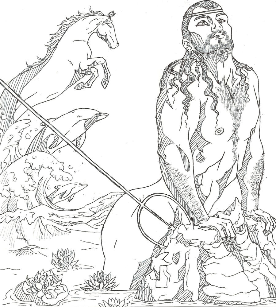 Poseidon Coloring Pages. Beautiful Zeus Coloring Pages Greek S ...