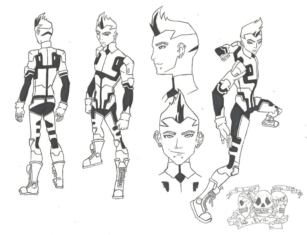 Young Justice Printable Best Of Coloring Pages: Male Character Concept Art Sketches Sketch Coloring Page