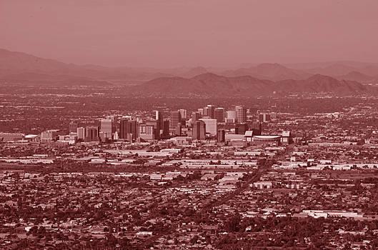 red cityscape of phoenix