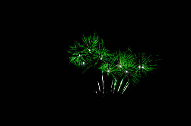green fireworks (they look like weed)