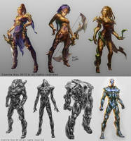sci-fi fantasy character concepts by camilkuo