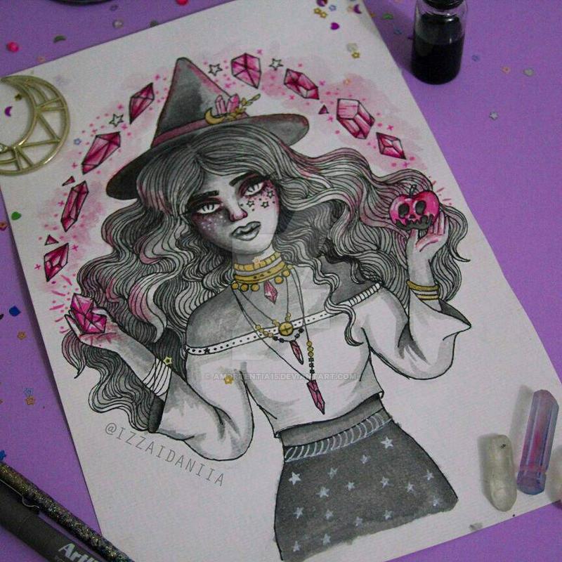 INKTOBER 2017 - Day 5: Quartz Witch by amortentia15