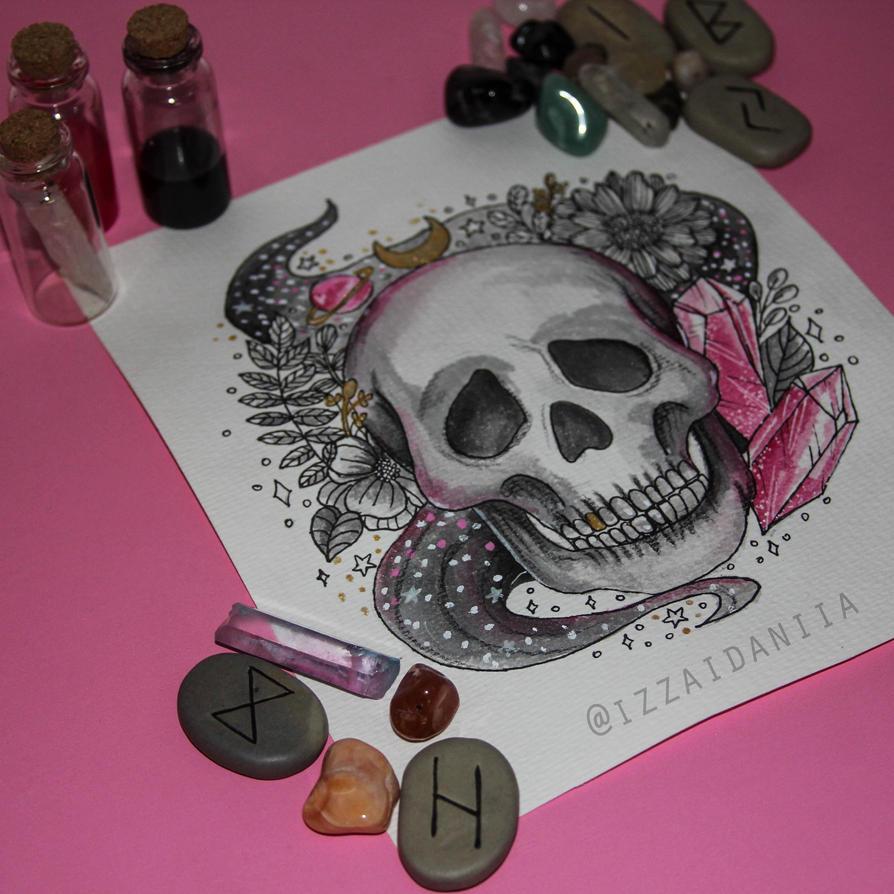INKTOBER 2017 - Day 7: Skull by amortentia15