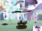 Exicusion of Princess Celestia by chanyhuman