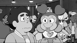 Spinel tries to cheer Steven up