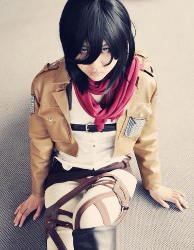 Mikasa Ackerman Cosplay by PrinNana