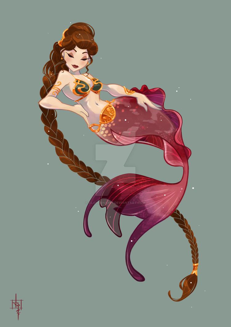 Mermaid Leia by Clovernight