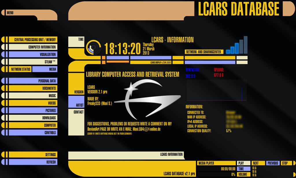 Lcars blue skin for tracker p800