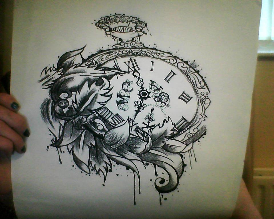 Pocket Watch Owl Tattoo Pocketwatch by Avvelanare