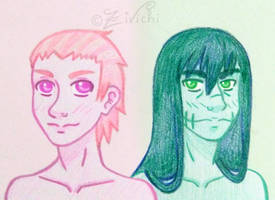 Pink and green by Zivichi