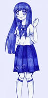 Hinata with school uniform