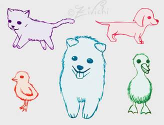 Baby animals by Zivichi