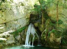 Waterfall of Belabarce by Zivichi