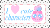 Cute Characters Fan Stamp by Zivichi