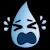 Crying tear emoticon