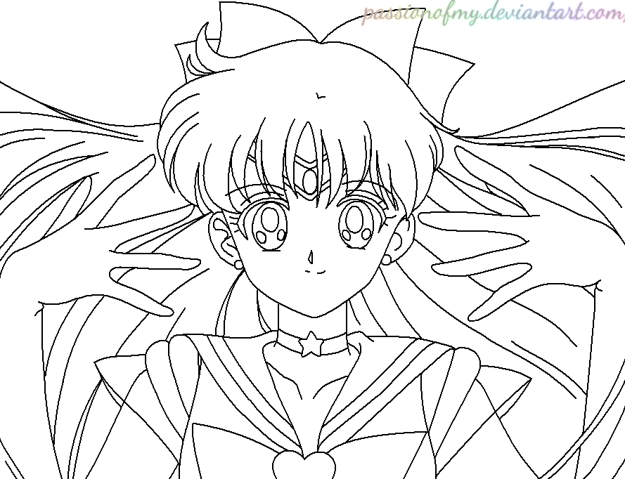 Lineart sailor venus passionofmy by passionofmy on for Sailor venus coloring pages