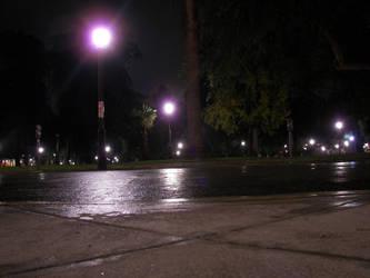 Park at night by baldarbrat