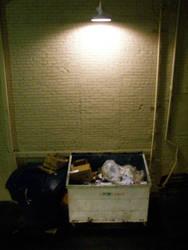 Lone dumpster