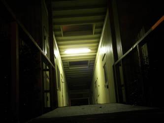 Creepy hallway by baldarbrat