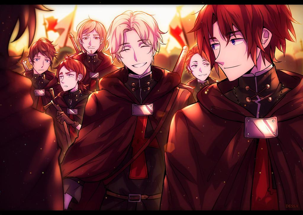 Owari no Seraph: Crowley and Victor by Dessa-nya