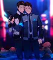 DBH: Calm down, Connor. by Dessa-nya