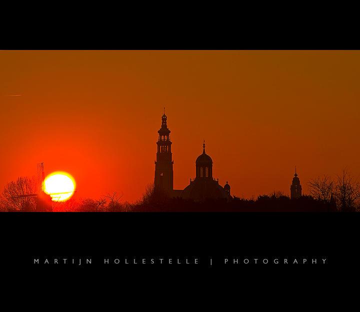 Sunset above the Middelburg