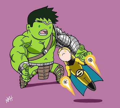 Worldbreaker Hulk vs The Sentry by TheFutureFoundation