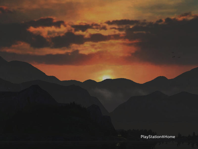 Sunset over the lowly Mountains by KyuubiGoku-sama
