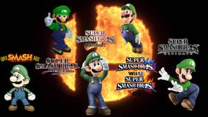 Super Smash Bros Ultimate Evolution of Luigi