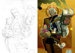 Cable cover pencils to paint