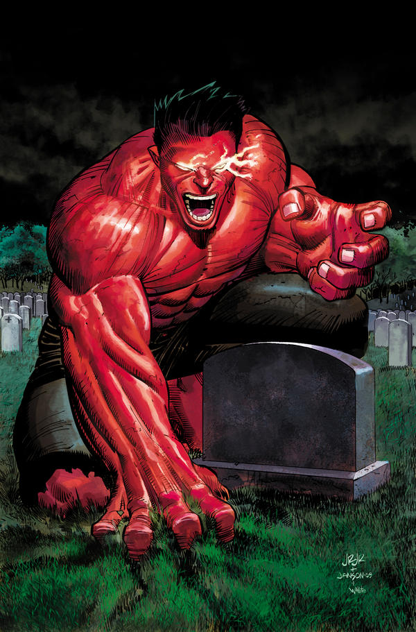 Red HUlk Cover by DeanWhite
