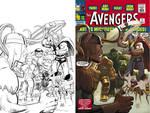 AvengersOmniBus1-BWtoColor