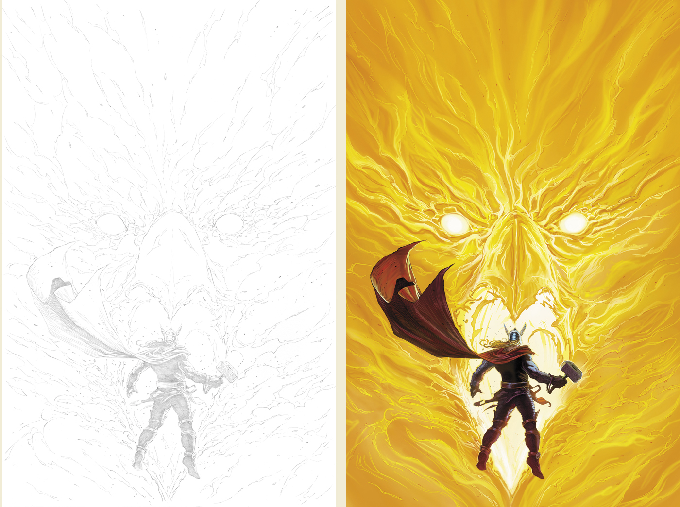 AvX alternate cover Pencils to colors by DeanWhite