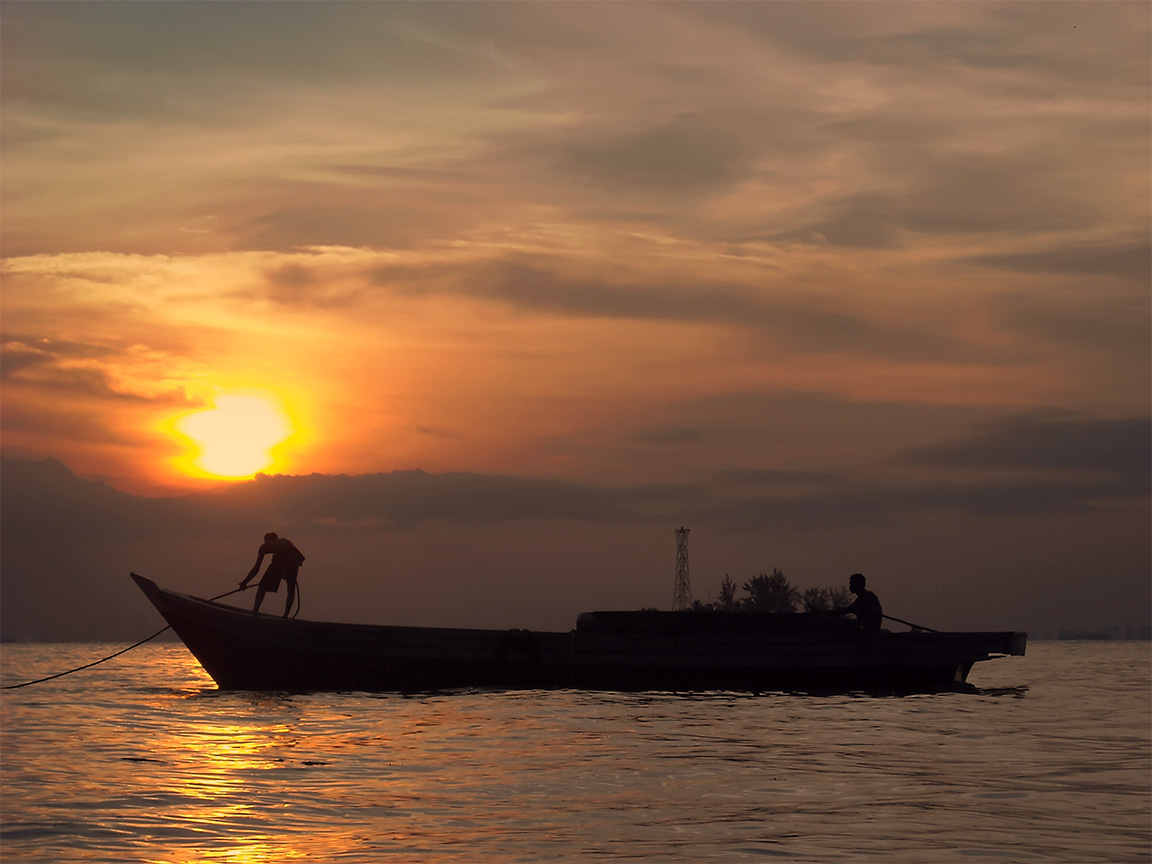 Fisherman Batam Island - INA by aqeuw
