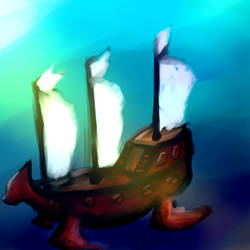 Underwater ship? Smthng strng by Aki-foxxy