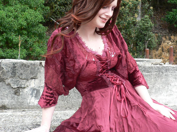 Eli Red Dress Godess 13 by Gracies-Stock