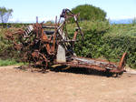 Old Broken Machinary-Tractor by Gracies-Stock