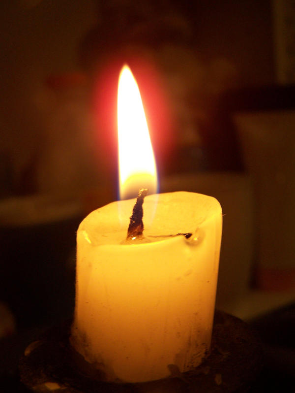 Macro - Candle And Flame by Gracies-Stock