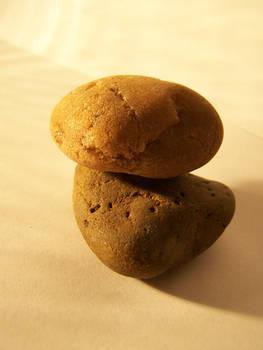 Two Rocks Balancing Together